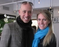 Robert Vendi and I at Fashion Week, NY