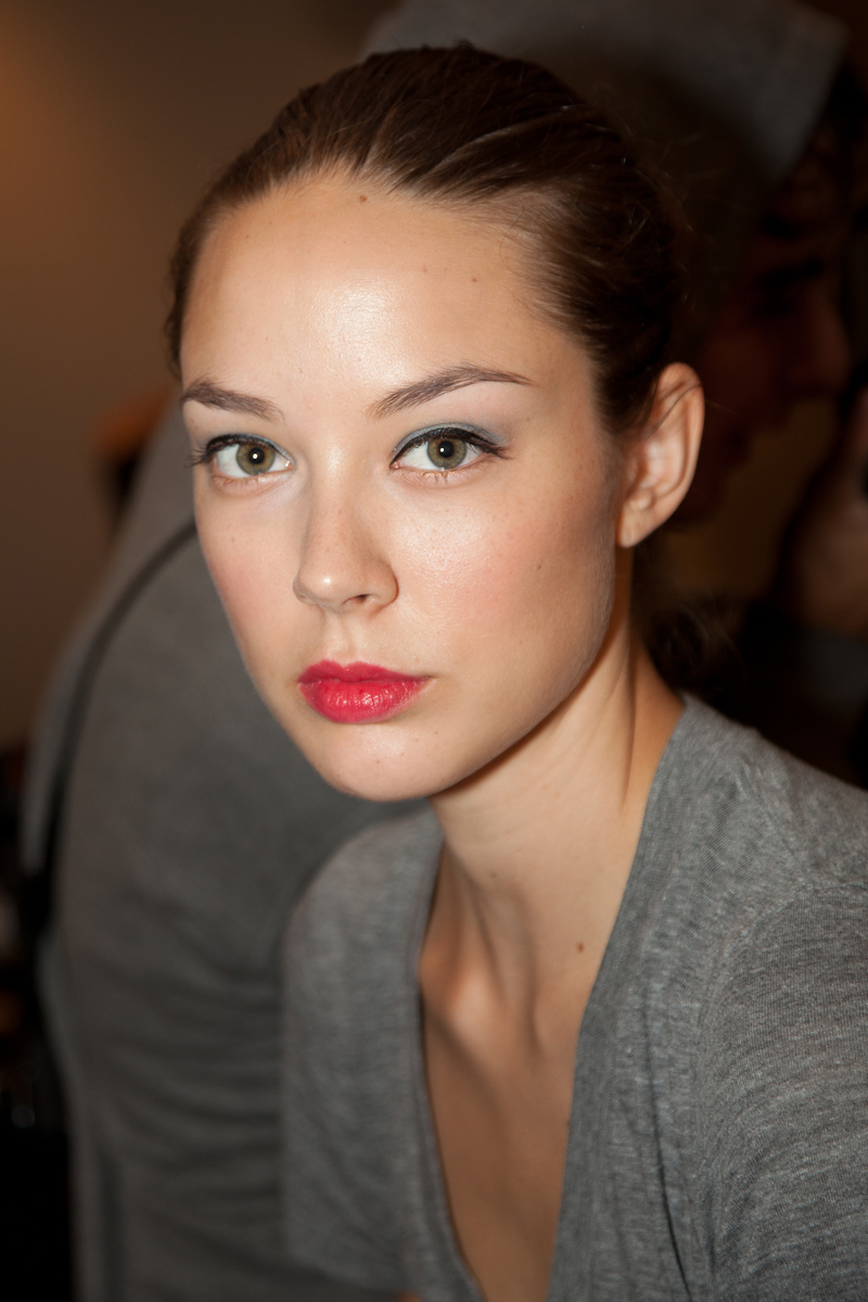 Backstage at New York Fashion Week Spring 2012 with Hourglass Cosmetics and Imitation of Christ