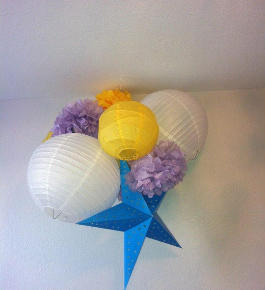 My Snapguide for Hanging Paper Lanterns in a Nursery