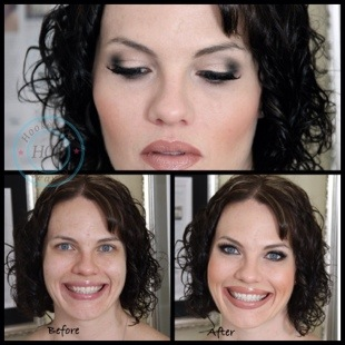 Makeup Before and After: Glam Mom